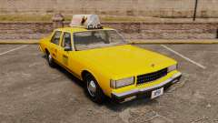 Chevrolet Caprice 1987 L.C.C. Taxi для GTA 4