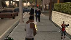 HUD The Ballas By Santiago для GTA San Andreas
