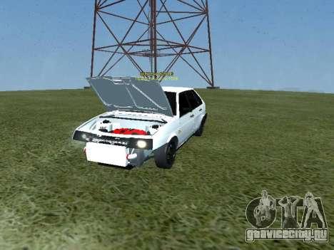 ВАЗ 2109 Turbo для GTA San Andreas вид сзади слева