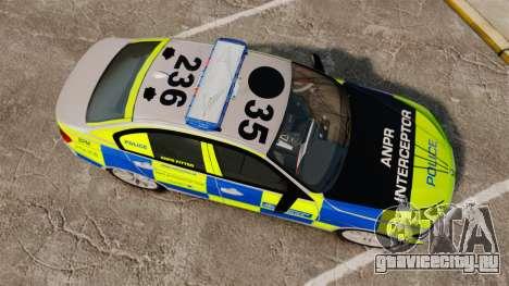 BMW F30 328i Metropolitan Police [ELS] для GTA 4 вид справа