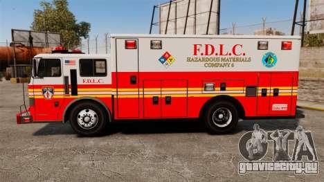 Hazmat Truck FDLC [ELS] для GTA 4 вид слева