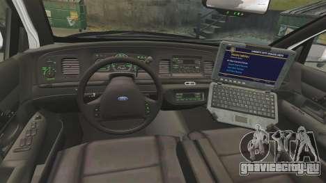 Ford Crown Victoria 1999 LAPD & GTA V LSPD для GTA 4 вид сзади