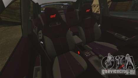 Subaru Impreza WRX STI 2011 Police [ELS] для GTA 4 вид сверху