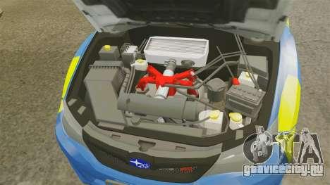 Subaru Impreza WRX STI 2011 Police [ELS] для GTA 4 вид изнутри