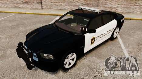 Dodge Charger RT 2012 Police [ELS] для GTA 4 вид сбоку