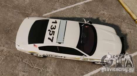 Dodge Charger RT 2012 Police [ELS] для GTA 4 вид справа