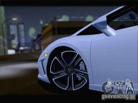Lamborghini Gallardo 2013 для GTA San Andreas вид изнутри