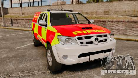 Toyota Hilux British Rapid Fire Cover [ELS] для GTA 4