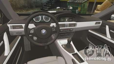 BMW M3 British Police [ELS] для GTA 4 вид изнутри