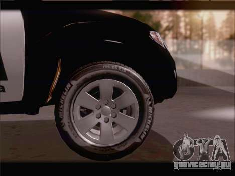 Mitsubishi L200 POLICIA для GTA San Andreas вид изнутри