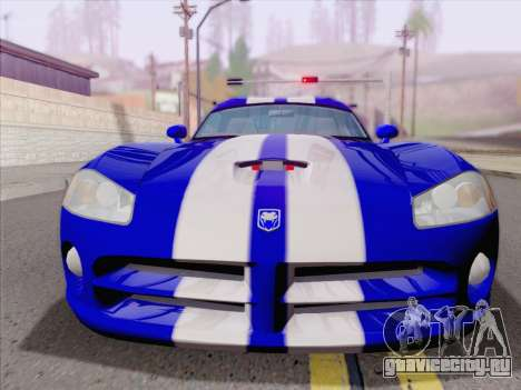 Dodge Viper SRT-10 Coupe для GTA San Andreas вид снизу