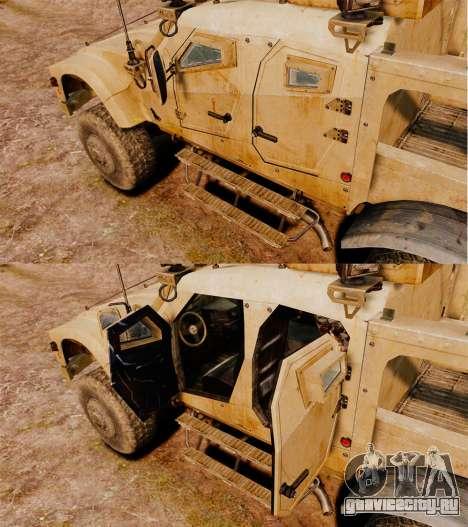 Oshkosh M-ATV для GTA 4 вид изнутри