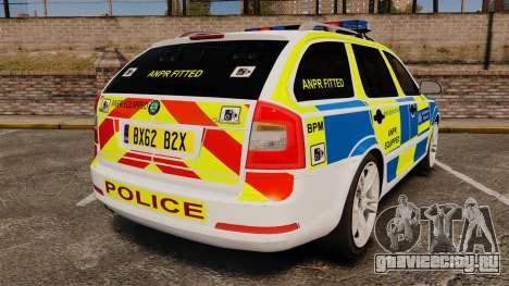 Skoda Octavia Scout RS Metropolitan Police [ELS] для GTA 4 вид сзади слева