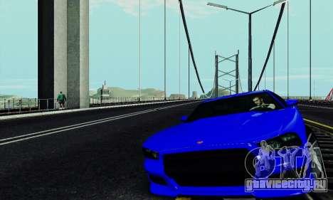 Buffalo из GTA V для GTA San Andreas вид изнутри