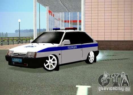 ВАЗ 2108 ДПС для GTA San Andreas