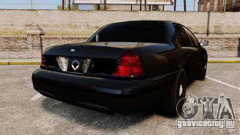 Ford Crown Victoria Stealth [ELS] для GTA 4 вид сзади слева