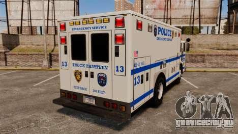 Hazmat Truck LCPD [ELS] для GTA 4 вид сзади слева