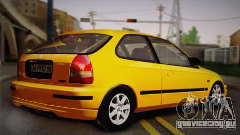Honda Civic 1.4is TMC для GTA San Andreas вид сзади слева