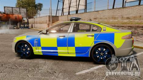 Jaguar XFR 2010 West Midlands Police [ELS] для GTA 4 вид слева