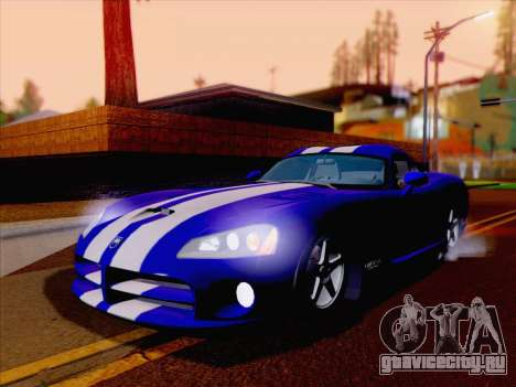 Dodge Viper SRT-10 Coupe для GTA San Andreas вид сзади слева