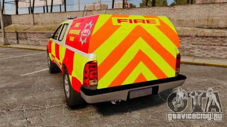 Toyota Hilux British Rapid Fire Cover [ELS] для GTA 4 вид сзади слева