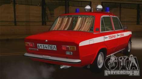 ВАЗ 21011 Пожарная охрана для GTA San Andreas вид сзади слева