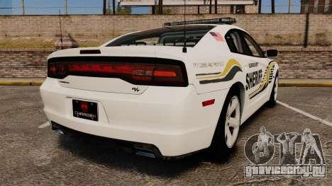 Dodge Charger RT 2012 Police [ELS] для GTA 4 вид сзади слева