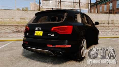 Audi Q7 Unmarked Police [ELS] для GTA 4 вид сзади слева