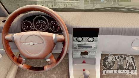 Chrysler Crossfire для GTA San Andreas вид сзади слева