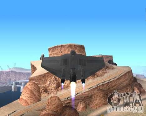 StarGate F-302 для GTA San Andreas вид сверху