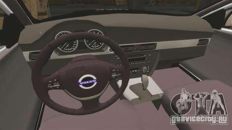 Volvo V70 Metropolitan Police [ELS] для GTA 4 вид изнутри