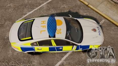 Jaguar XFR 2010 Police Marked [ELS] для GTA 4 вид справа