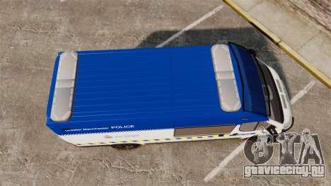 Fiat Ducato Manchester Police [ELS] для GTA 4 вид справа