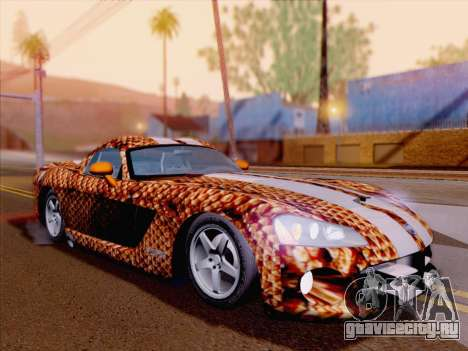 Dodge Viper SRT-10 Coupe для GTA San Andreas двигатель