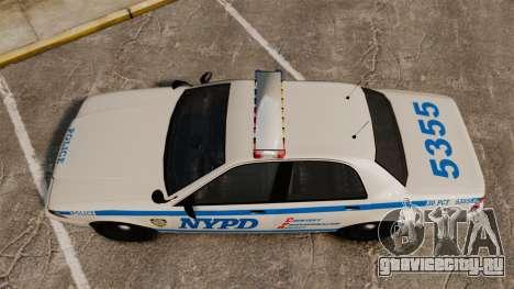 GTA V Vapid Police Cruiser NYPD для GTA 4 вид справа