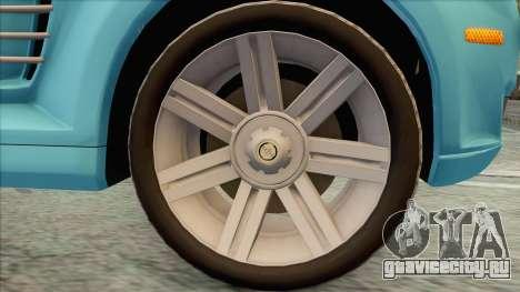 Chrysler Crossfire для GTA San Andreas вид справа
