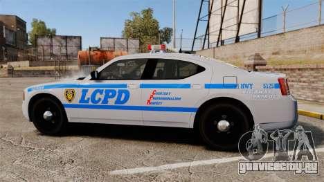 Dodge Charger LCPD [ELS] для GTA 4 вид слева
