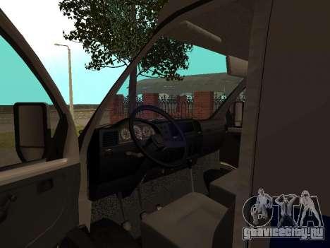 ГАЗ Соболь Полиция для GTA San Andreas вид сзади
