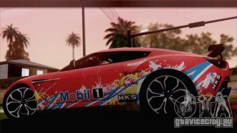 Aston Martin V12 Zagato 2012 [HQLM] для GTA San Andreas вид справа