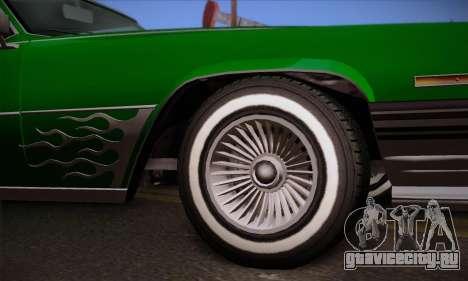 GTA V Manana для GTA San Andreas вид сзади слева