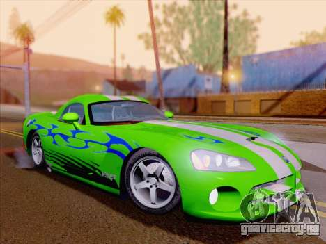 Dodge Viper SRT-10 Coupe для GTA San Andreas колёса