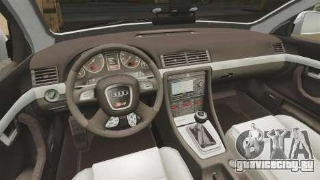 Audi S4 Avant Metropolitan Police [ELS] для GTA 4 вид изнутри