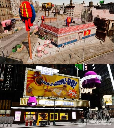 Рестораны McDonalds и Taco Bell для GTA 4