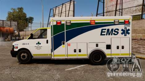 Brute Alberta Health Services Ambulance [ELS] для GTA 4 вид слева