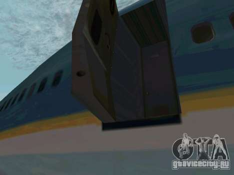 Boeing-747-400 Airforce one для GTA San Andreas вид сзади слева
