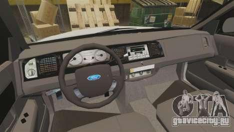 Ford Crown Victoria LCPD [ELS] для GTA 4 вид сзади