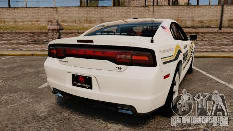 Dodge Charger RT 2012 Slicktop Police [ELS] для GTA 4 вид сзади слева