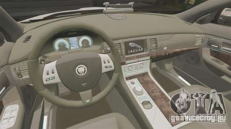 Jaguar XFR 2010 Police Marked [ELS] для GTA 4 вид изнутри