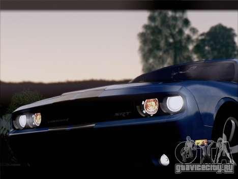 Dodge Challenger SRT8 2012 HEMI для GTA San Andreas двигатель