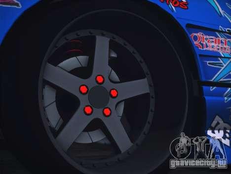 Nissan Silvia S13 Toyo для GTA San Andreas вид сзади